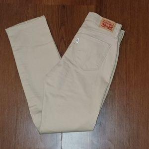 Women's Tan Levi's 505 Straight Jeans